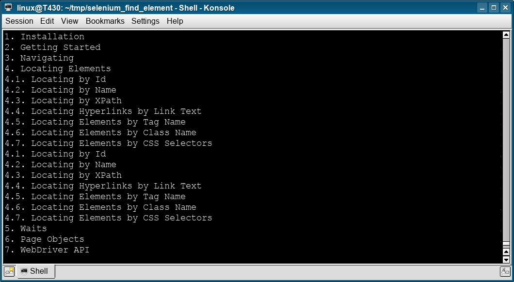 selenium find list items