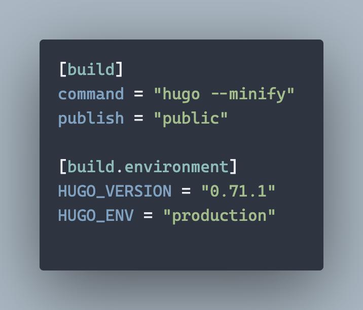 My Netlify configuration file
