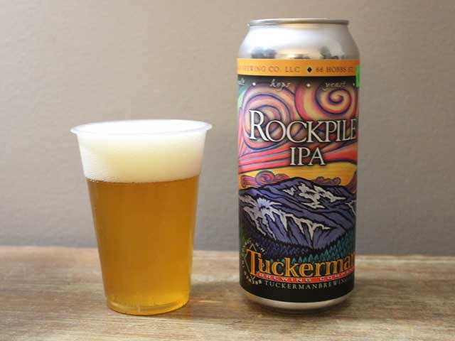 Rockpile IPA, a India Pale Ale brewed by Tuckerman Brewing Company