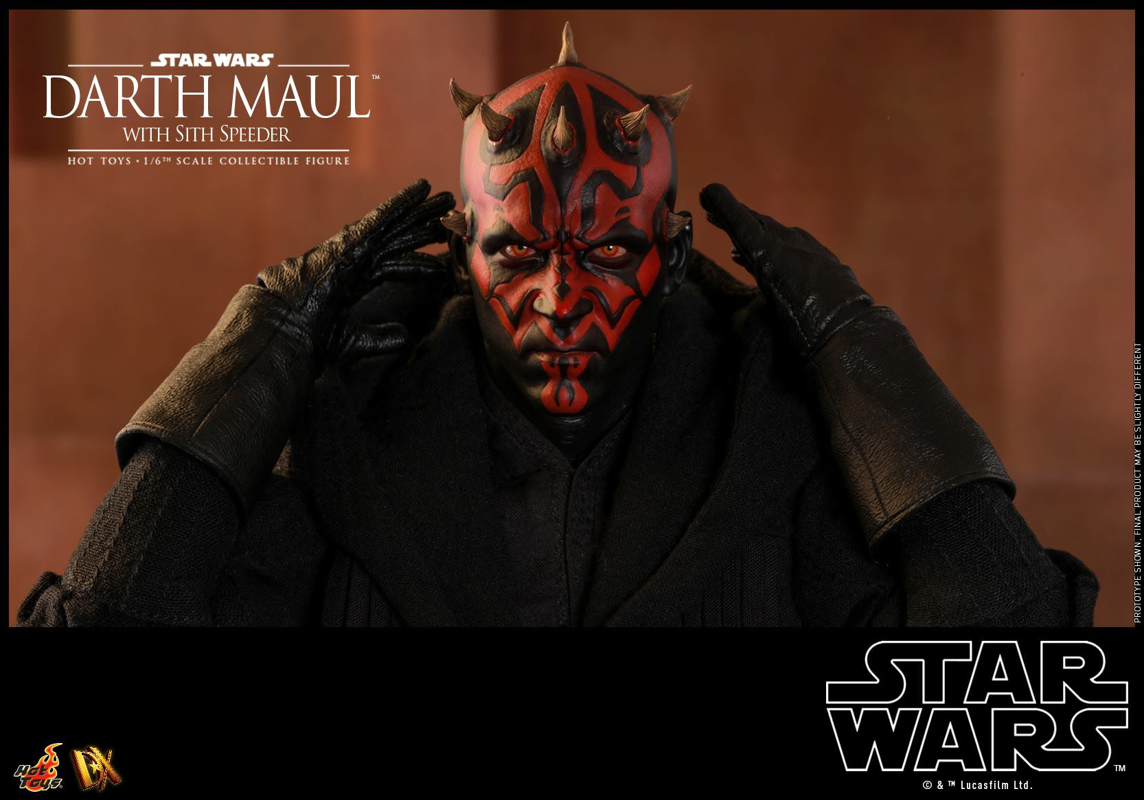 Hot Toys Star Wars: The Phantom Menace DX17 Darth Maul With Speeder 1/6 Scale Collectible Figure