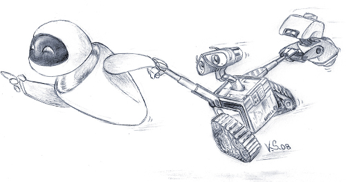 Wall-e and Eve Sketch