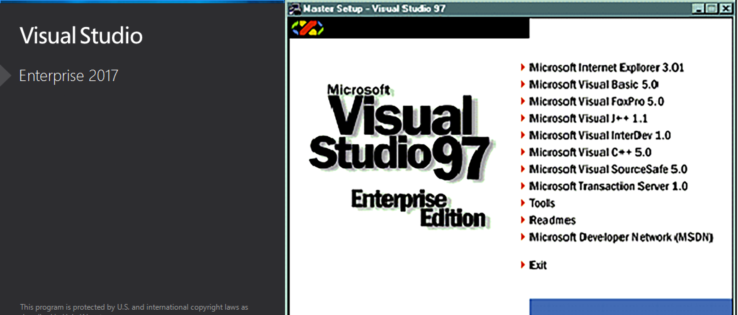 Visual Studio Then And Now