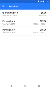 Image of final receipts screen on companion app