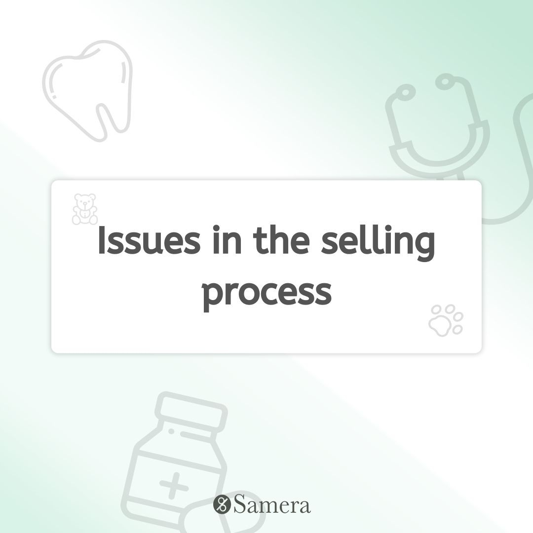 Issues in the selling process