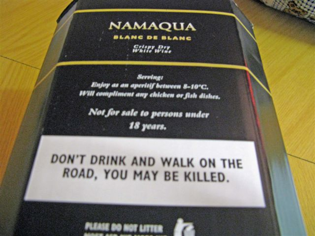 Don\'t Drink and Walk on the Road, You may be killed