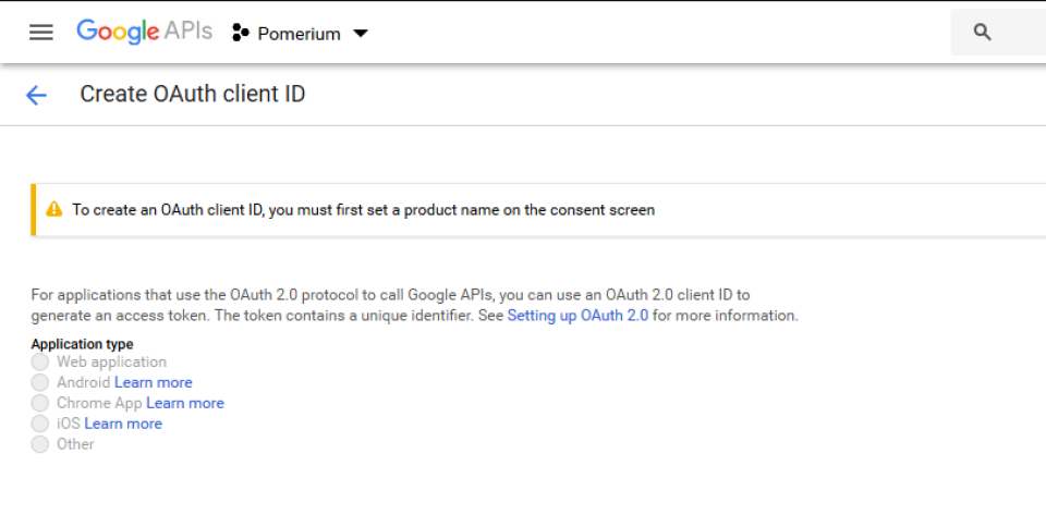 OAuth Consent Banner