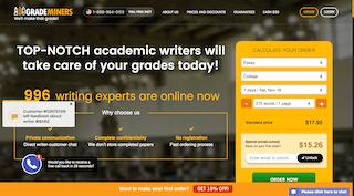 grademiners.com main page