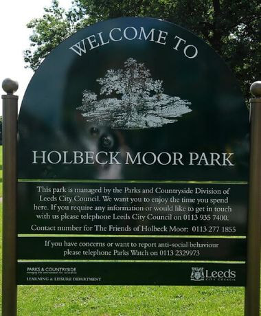 Holbeck Moor Park sign