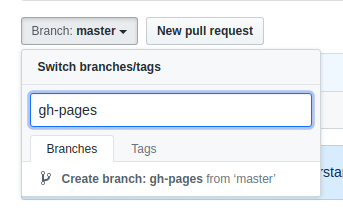 Creating the gh-pages branch