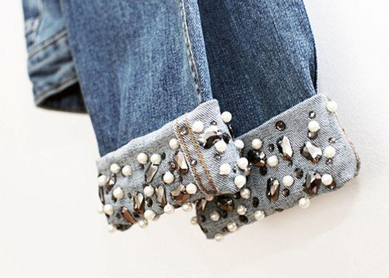 Ourlets customisés à perles