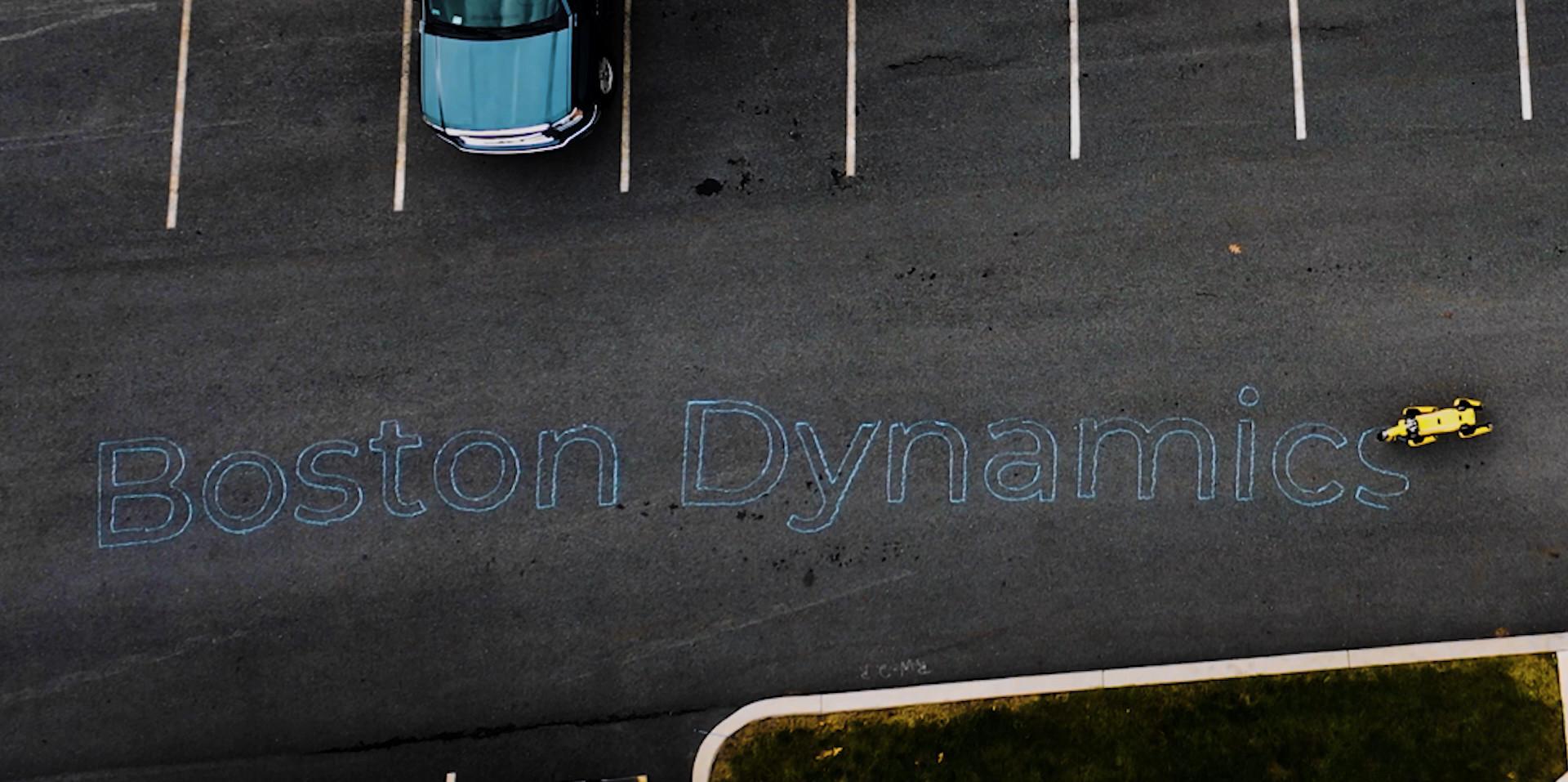 Chalk Drawing of Boston Dynamics Logo