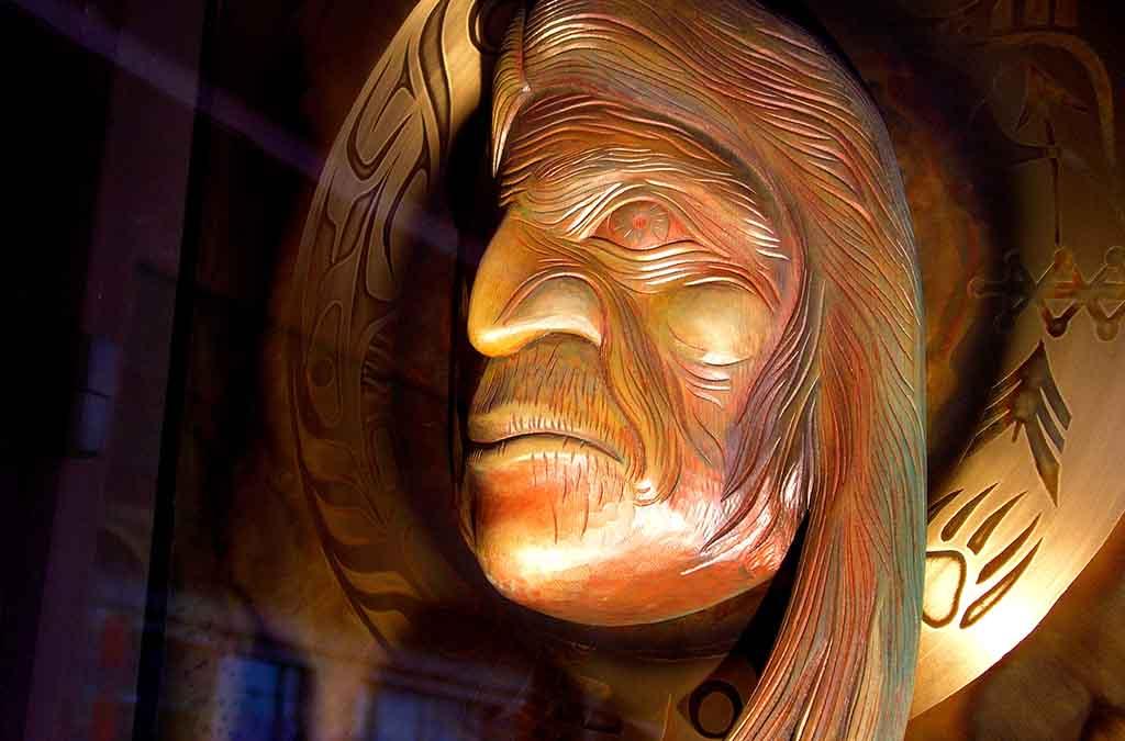 A Native American mask