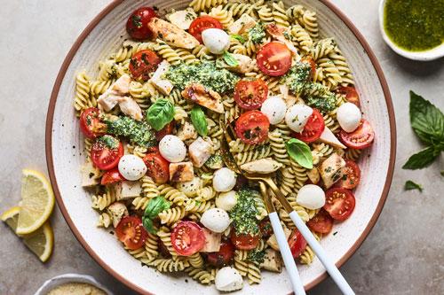 Grilled Chicken Pesto Pasta Salad
