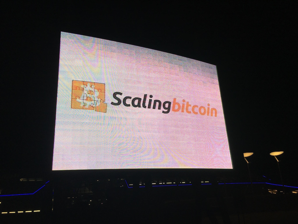 The Scaling Bitcoin sign