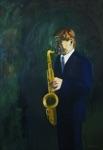 "Riina Neeme, Estonia. ""Bengt Ingelin"" 2005. Canvas, oil, 100x145"