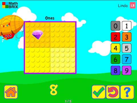 Represent numbers up to 10 (typing) Math Game