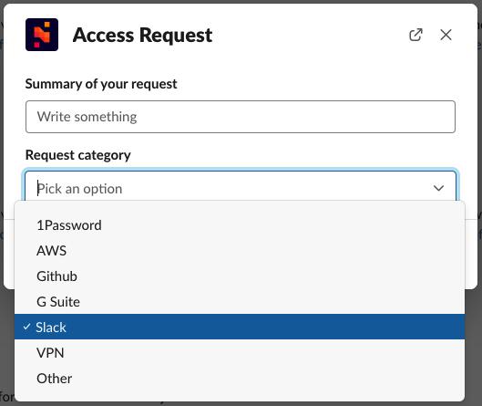 Communication - Slack - Access Request