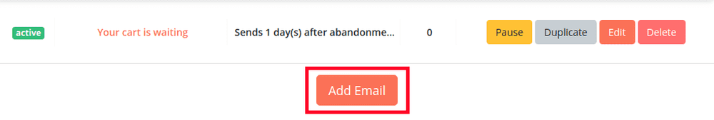 Add email button