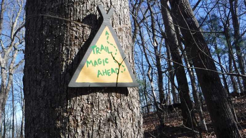 Trail magic sign