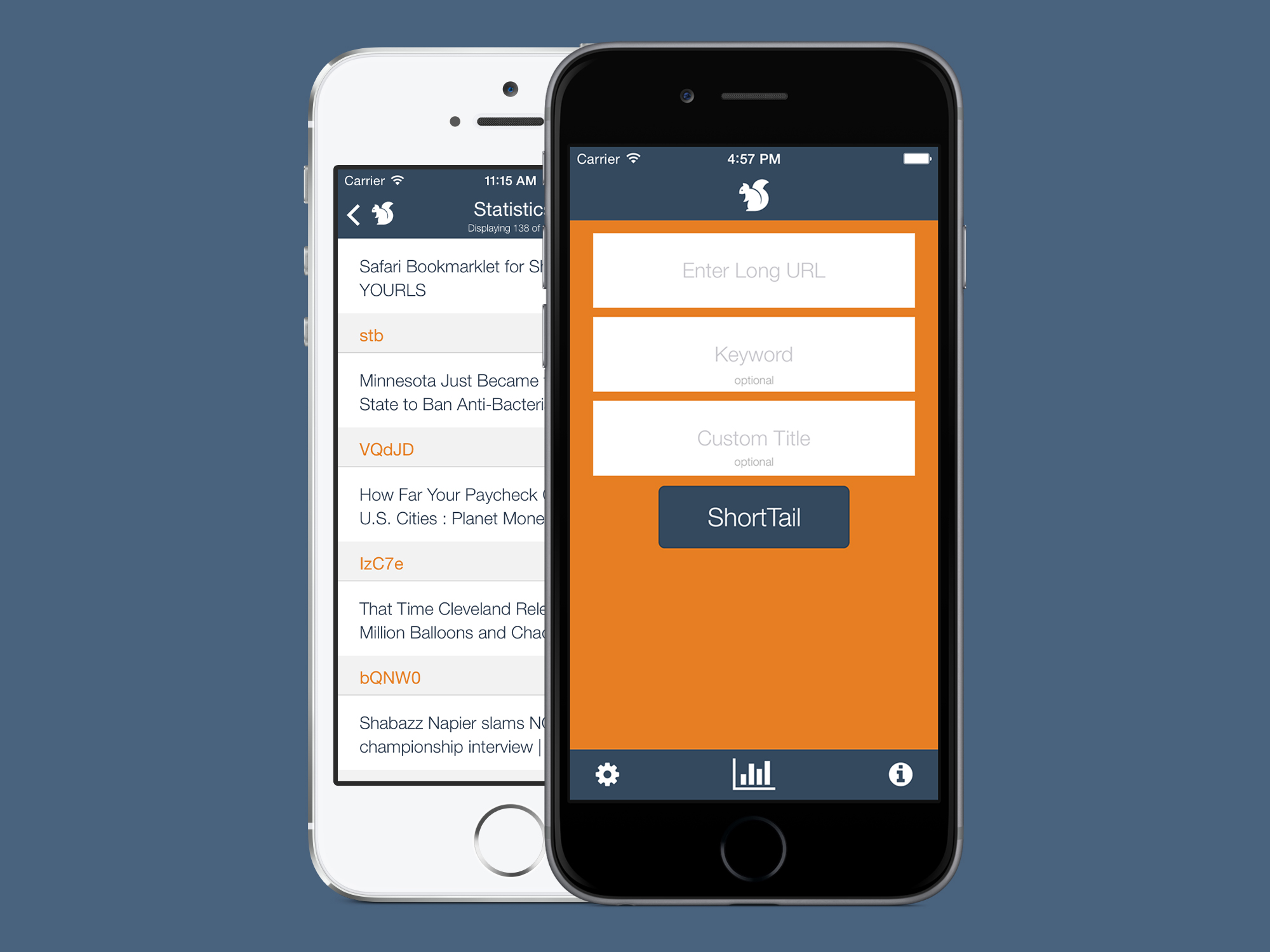 ShortTail - An elegant YOURLS client for iPhone