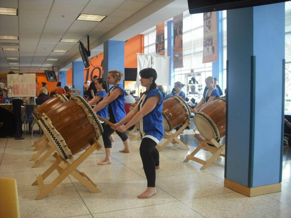 Taiko players at Animarathon X.
