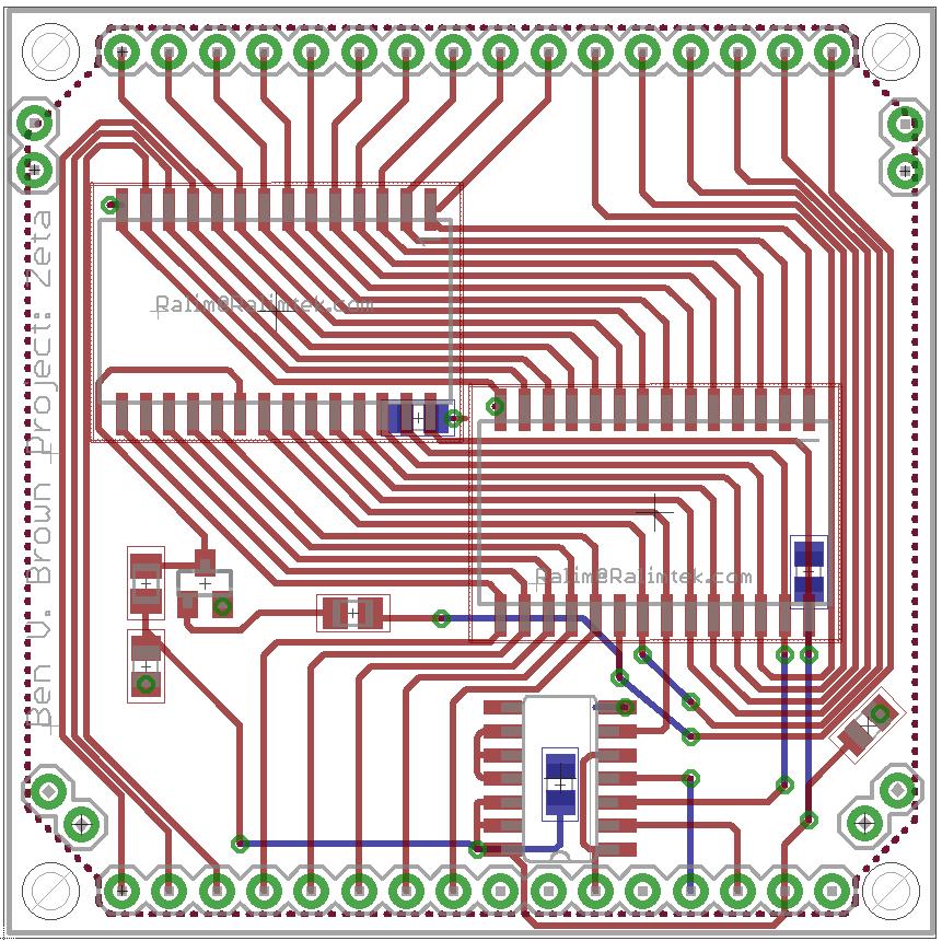 Zeta:RAM Circuit Board