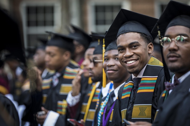 Morehouse College students at commencement