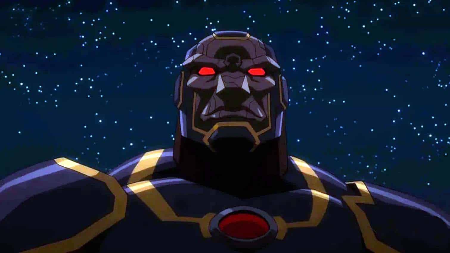 Darkseid em cena de Liga da Justica Sombria Guerra de Apokolips