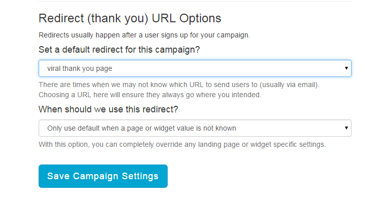 Control redirects from your landing pages to your thank you pages.