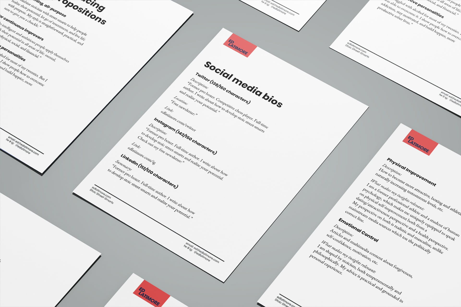 Pages from brand messaging kit