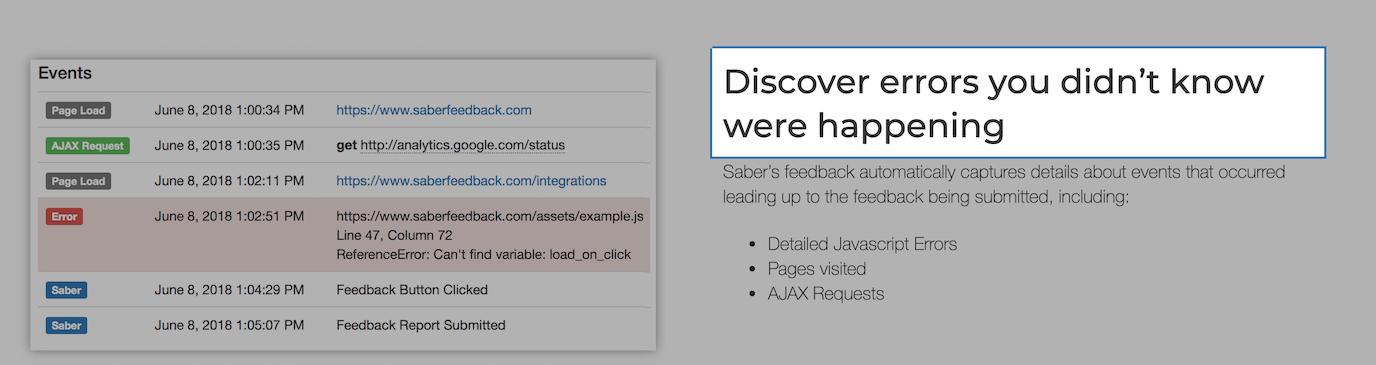 Saber screenshot functionality