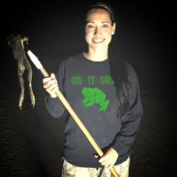 Kari Irby Frog Gigging Hen Outdoors
