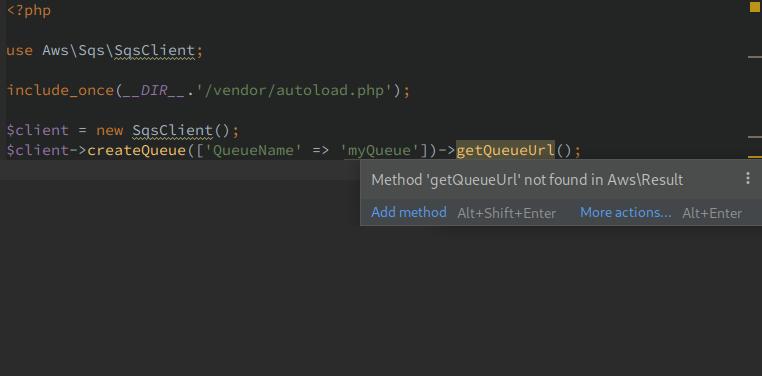 AWS PHP SDK result doc