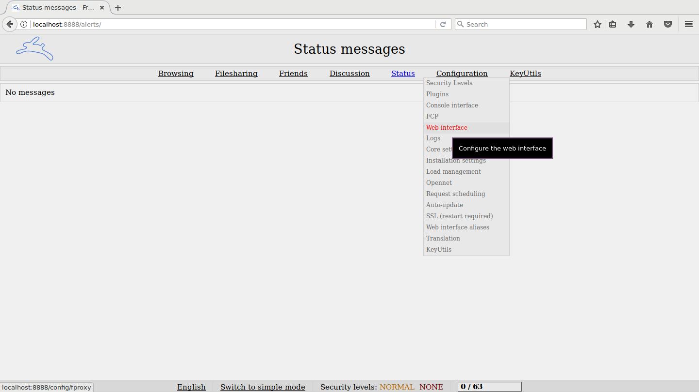 Web Interface Config