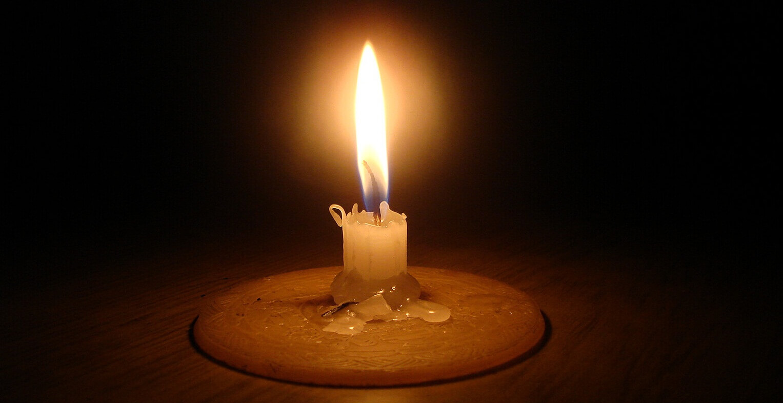 A candle Light - Load-shedding in Nepal