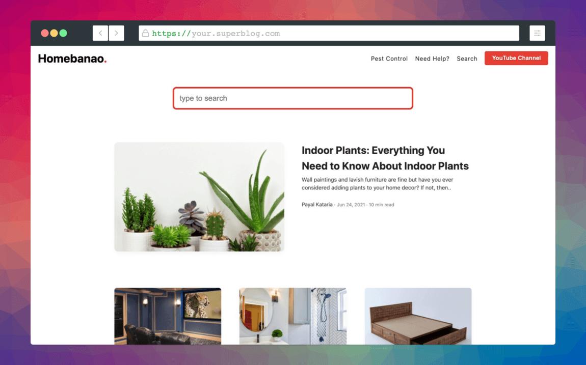 superblog homepage list layout