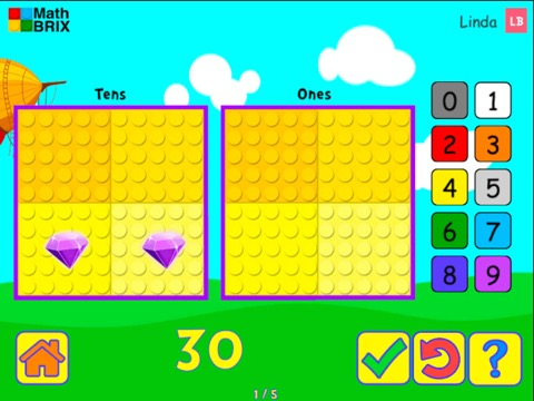 MiniComputer: Represent numbers up to 100 (Typing) Math Game