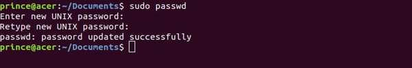 passwd command to change password in linux