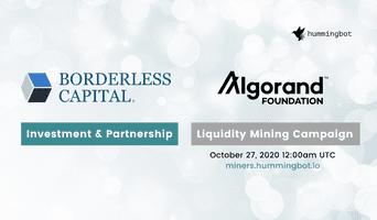 Borderless Capital and Algorand Foundation partner with Hummingbot to bring liquidity mining to the Algorand Ecosystem!