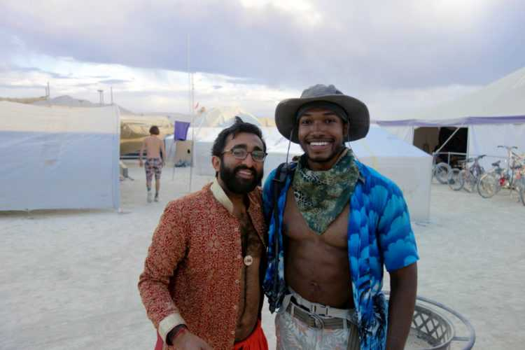 Burning Man with friend