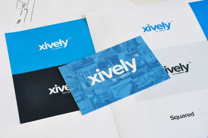 Photo of a few applications of the Xively logo.