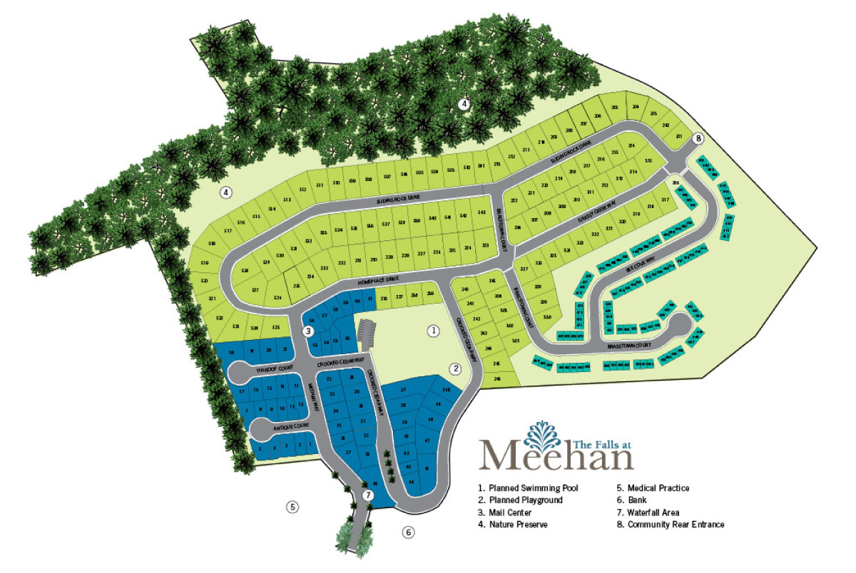 The Falls at Meehan siteplan