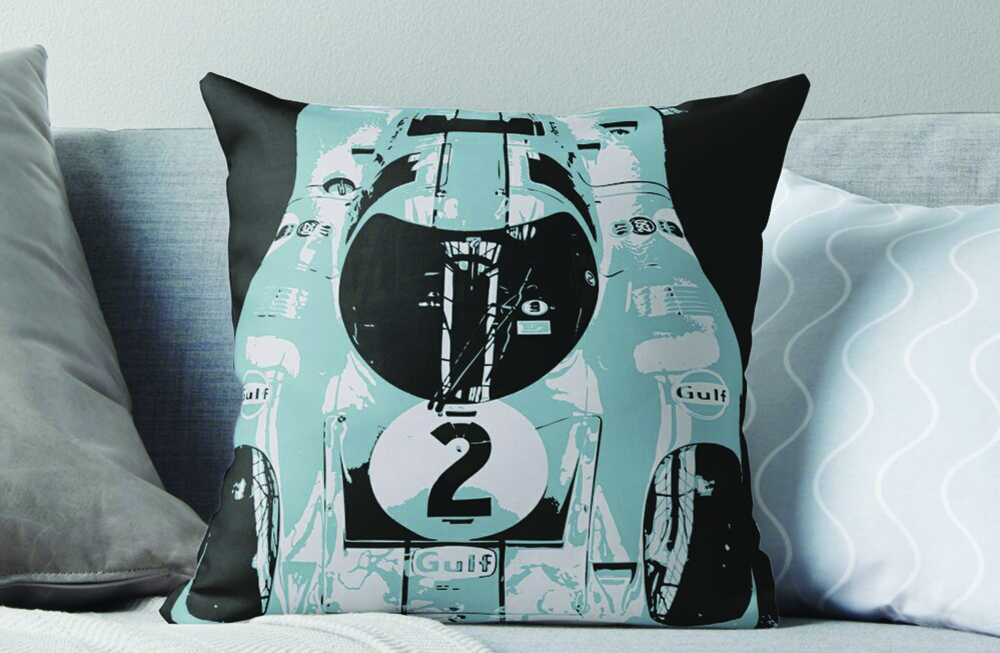 Porsche 917K Throw Pillow by thespeedart