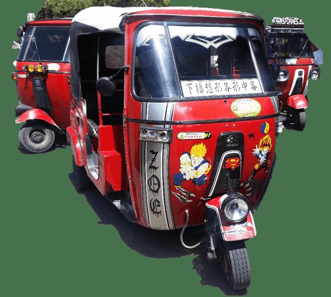 Tuktuk von vorn