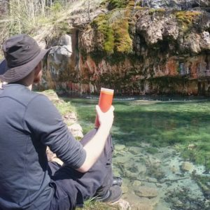 Grayl Water Filter on Camping Trip