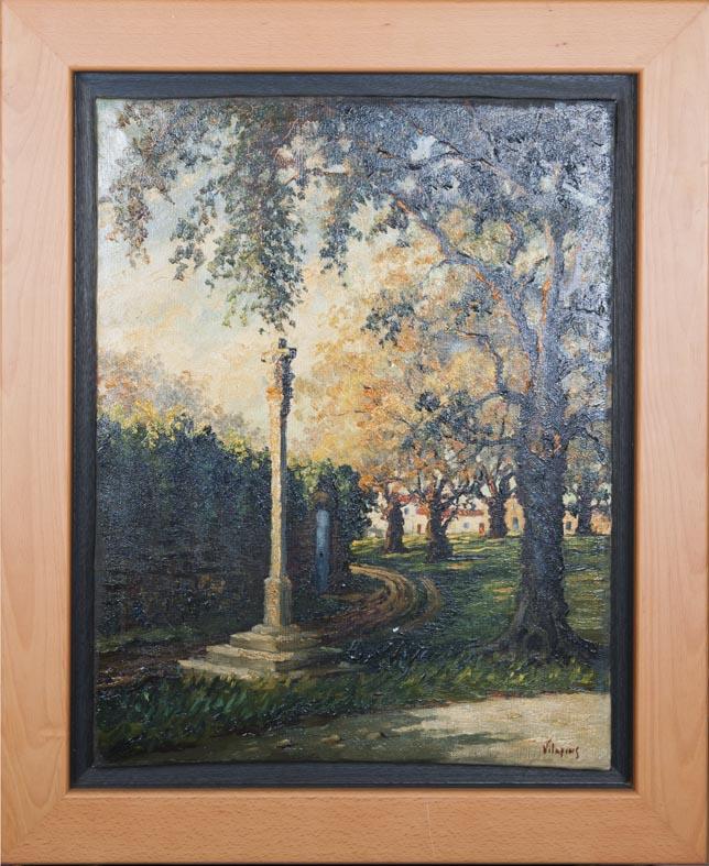 Villafins - oleo lienzo - 63x48 cm · óleo/lienzo