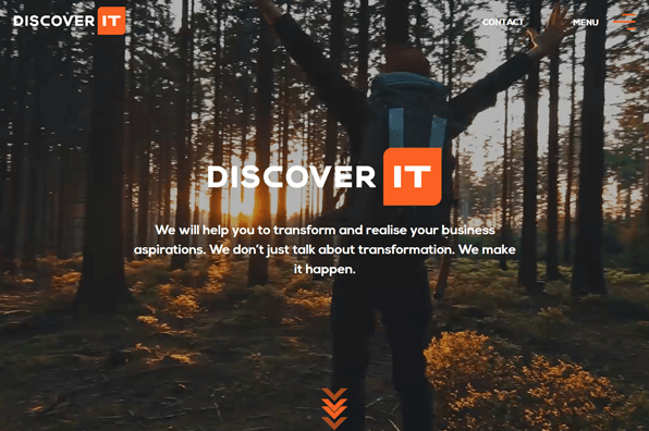 Screenshot of DiscoverIT