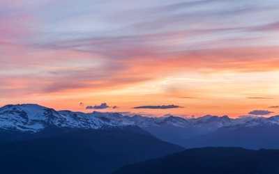 Wedgemount peak sunset