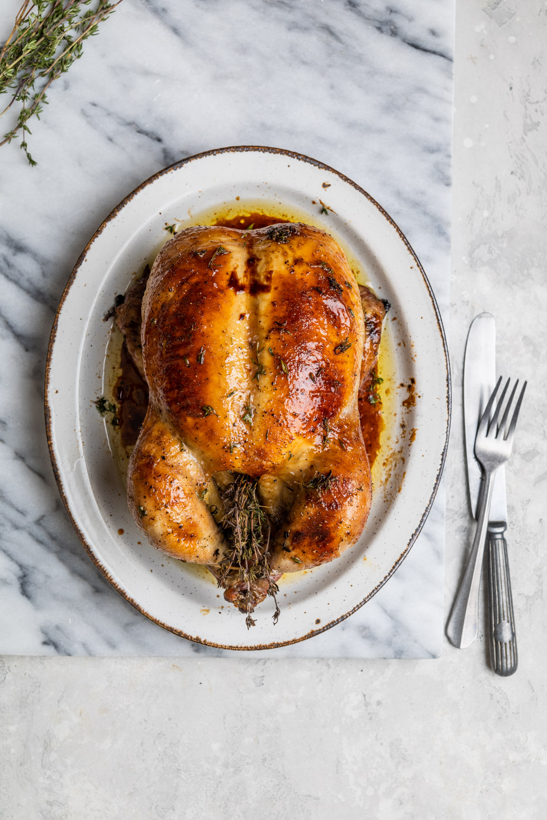 Maple Butter Roasted Chicken