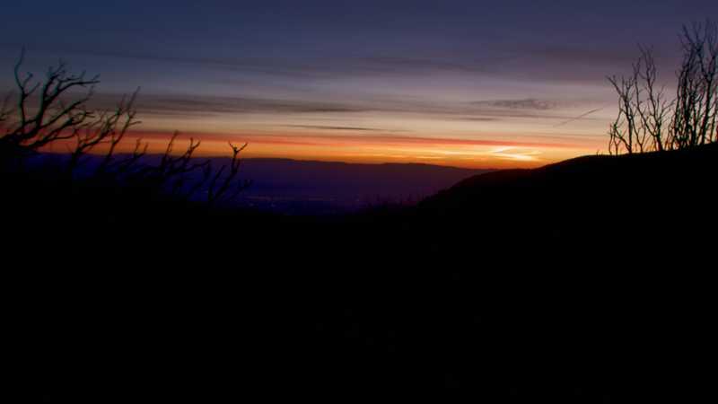 Sunrise on the PCT